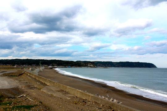 まっさらになってしまった海岸