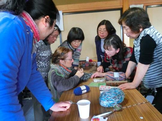 ¥高見荘 編物教室2